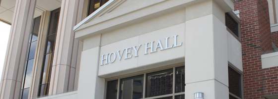 Entrance to Hovey Hall